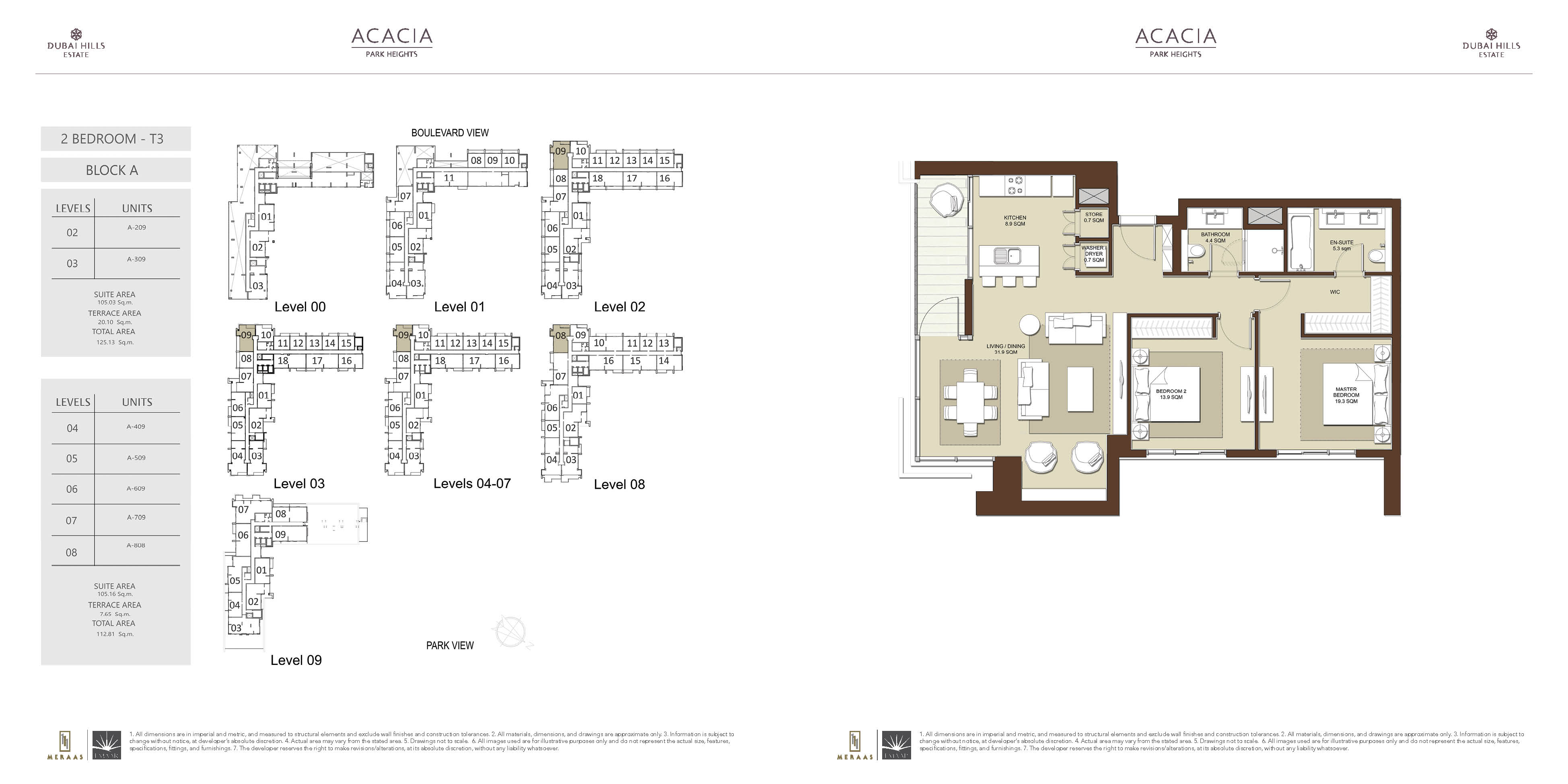 floor plans dubai hills estate dubai real estate 2 bed acacia at park heights 2 bed floor plan type 2 bd t3
