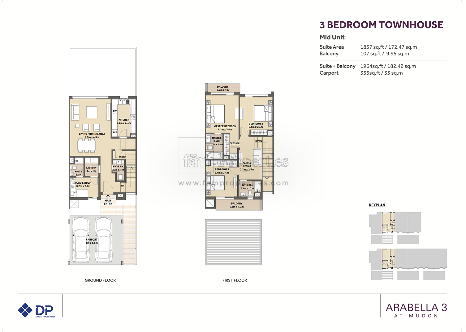3 bed arabella townhouses 3 3 bed floor plan type 3 bedroom