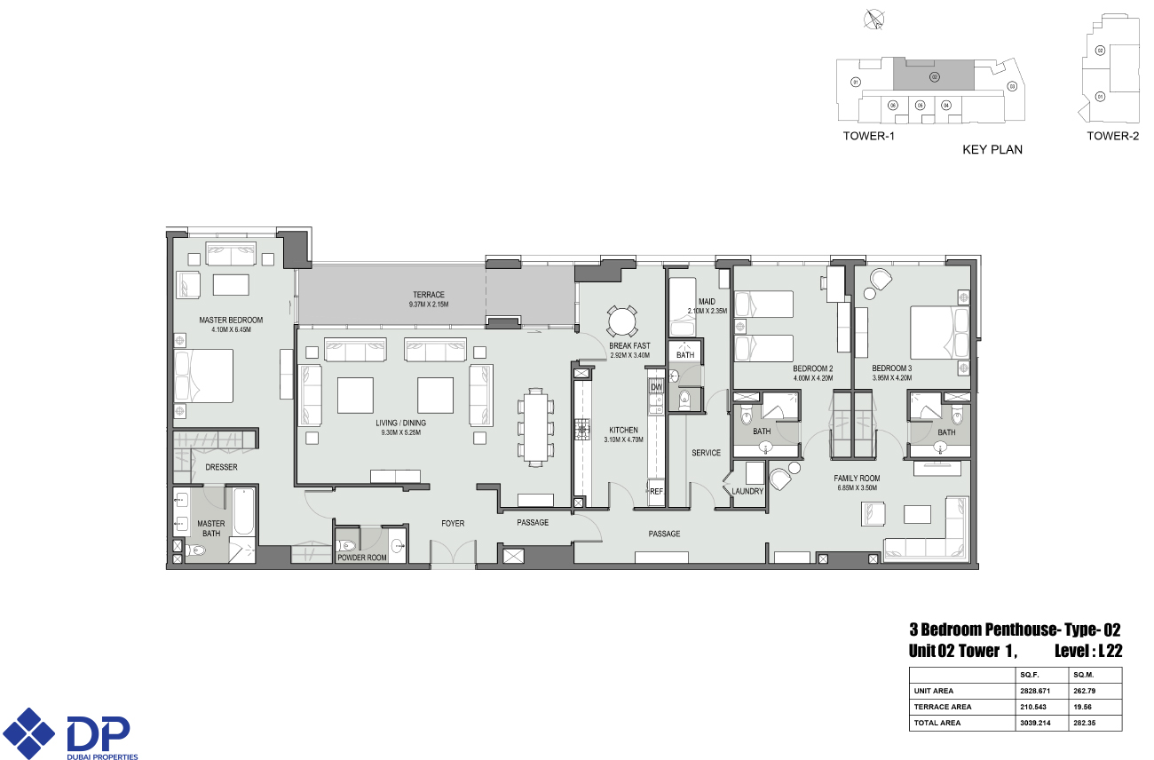 Floor plans bellevue towers downtown dubai by dubai for Atlantis homes floor plans