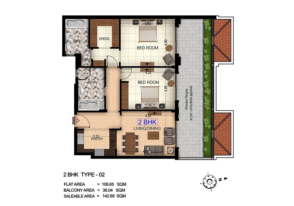 Floor Plans Botanica Jumeirah Village Circle Jvc By Myra Properties