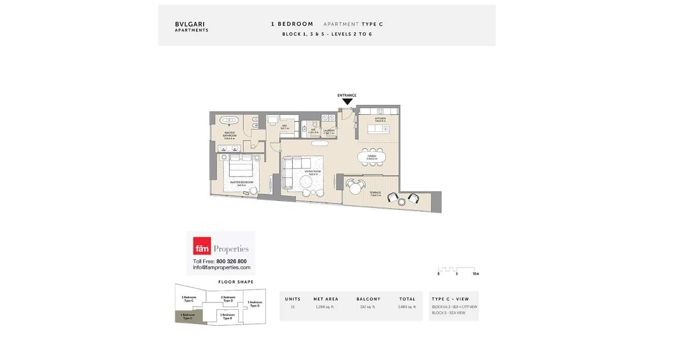 11385b8cd5810 Floor Plans - Bulgari Residences Jumeirah Bay Island by Meraas