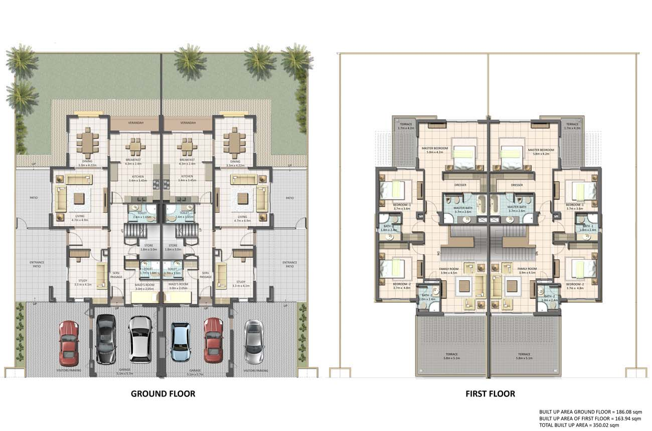 Floor plans cedre villas silicon oasis by dubai silicon Program for floor plans