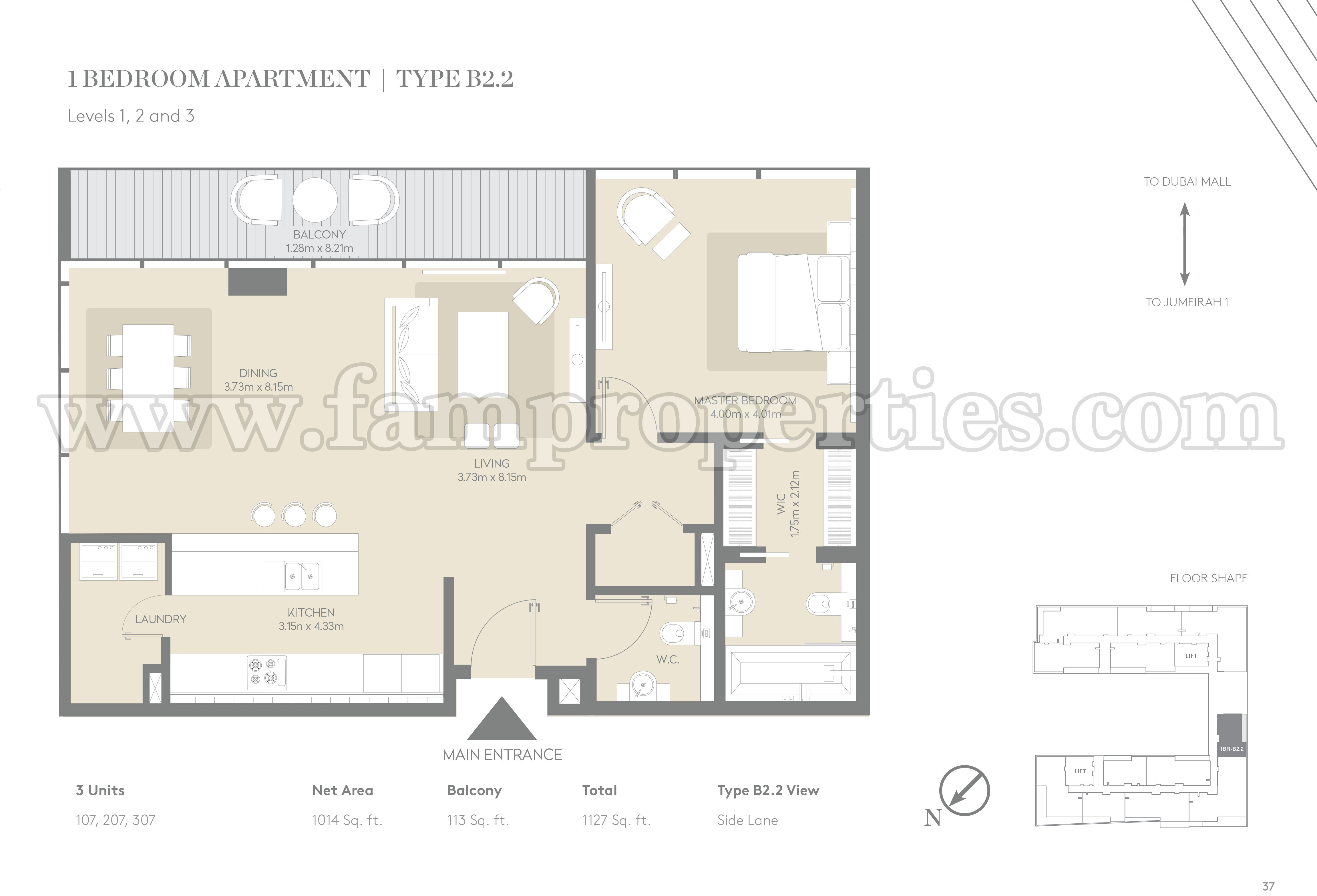 Floor plans city walk jumeirah by meraas for Apartment hotel plans