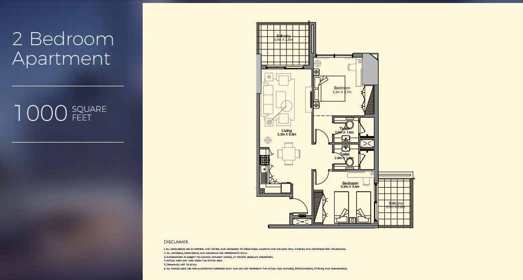Floor plans mag 318 downtown dubai by mag property for 600 square feet 2 bedroom apartment