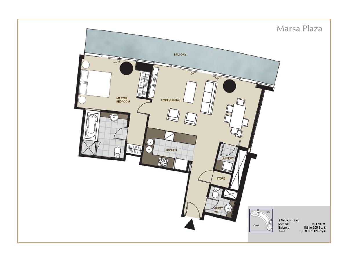 Floor Plans Dubai Festival City Dfc Dubai Real Estate