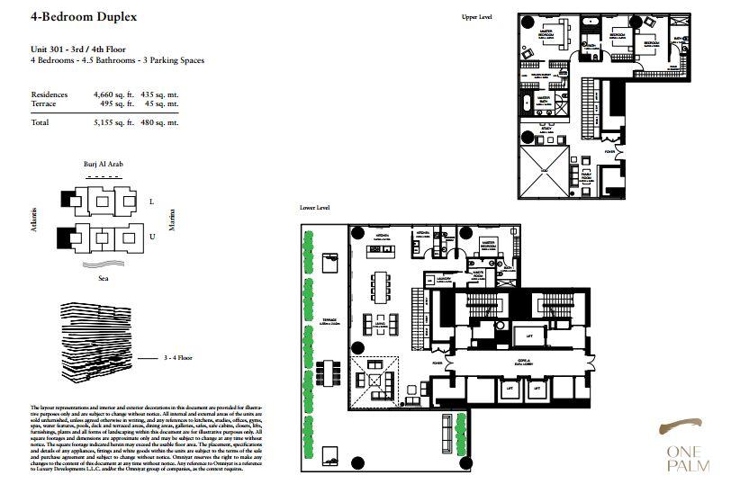 4 Bed One Palm Floor Plan Type Bedroom