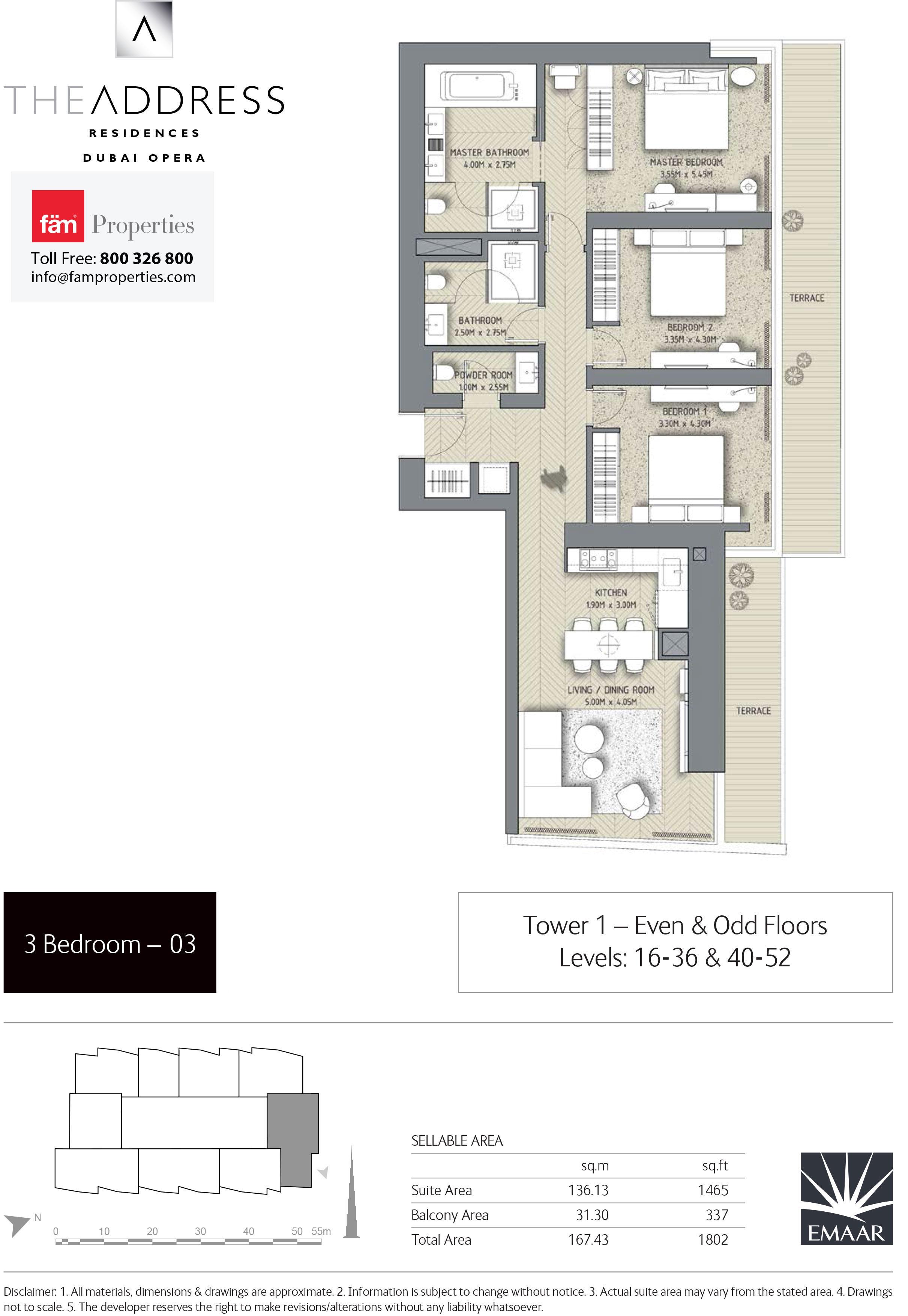 Floor Plans The Address Residences Dubai Opera Downtown