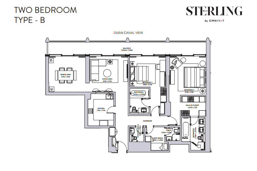 Floor plans the sterling downtown dubai for Sterling plan
